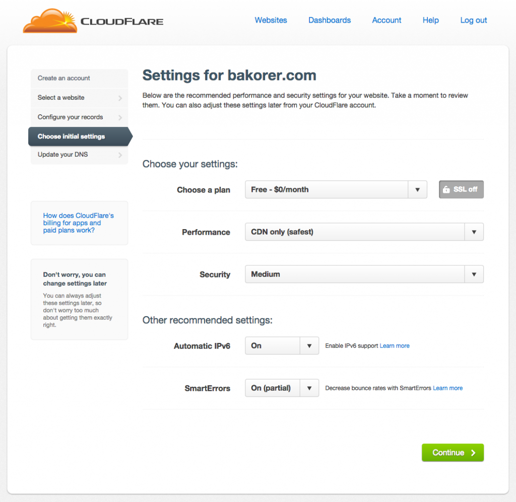 3-Choose-settings-CloudFlare
