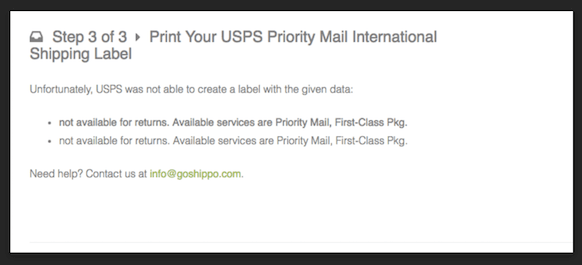 Shippo - Print Your USPS Priority Mail International