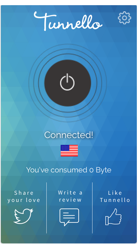 Tunnello VPN Connected