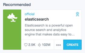 create elasticsearch Docker GUI Kitematic